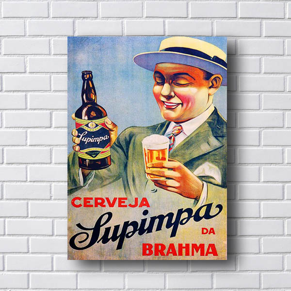 Quadro Vintage Cerveja Supinpa