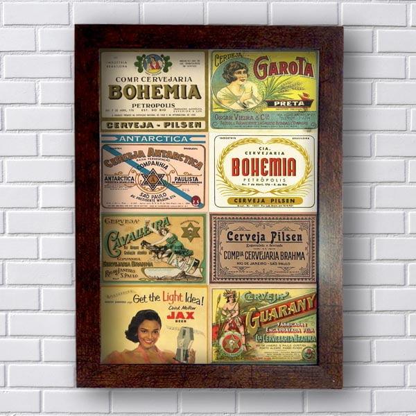 Quadro Vintage Cervejas Retro
