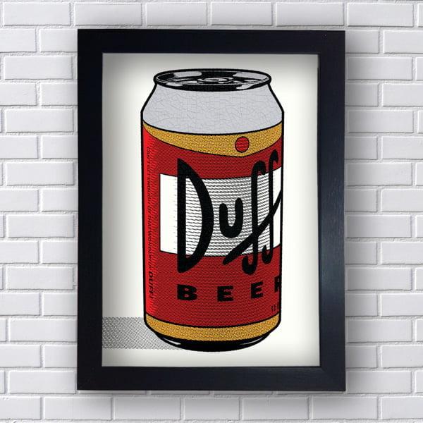 Quadro Vintage Duff Beer Retro
