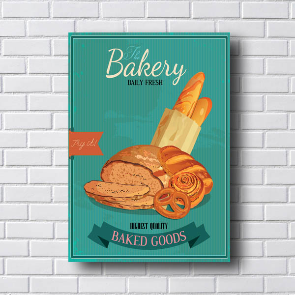 Quadro Decorativo Bakery Baked Goods
