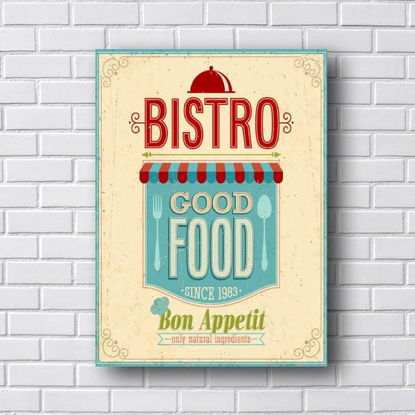 Quadro Decorativo Bistro Good Food