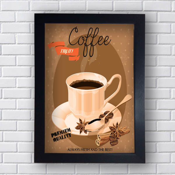 Quadro Decorativo Coffee Premium Quality