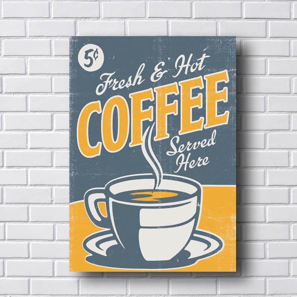 Quadro Decorativo Coffee Served Here