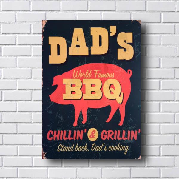 Quadro Decorativo Dads BBQ