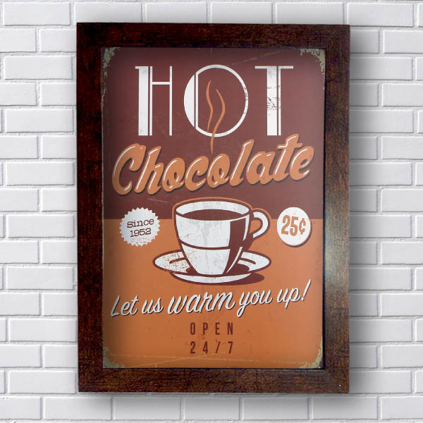 Quadro Decorativo Hot Chocolate