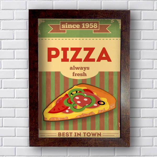 Quadro Decorativo Pizza Always Fresh