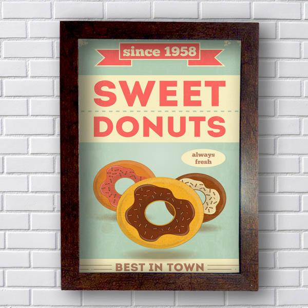 Quadro Decorativo sweet Donuts