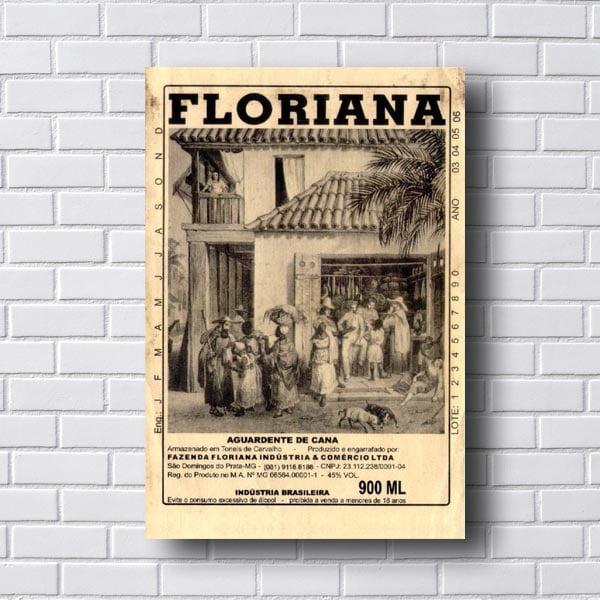 Quadro Vintage Floriana Aguardente