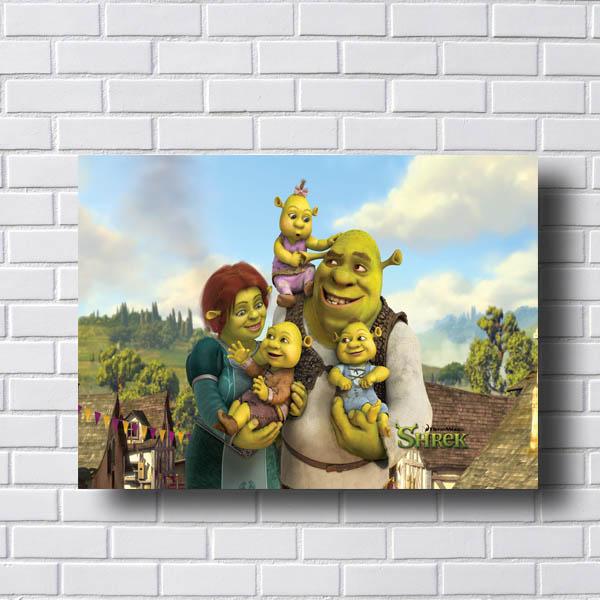 Quadro Shrek e Fiona