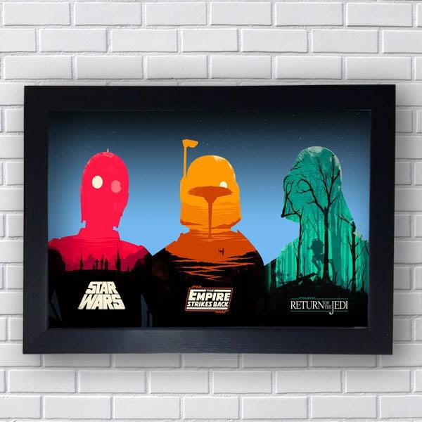 Quadro Star Wars Trilogia
