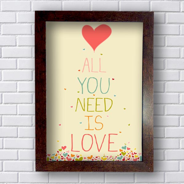 Quadro All Need Is Love