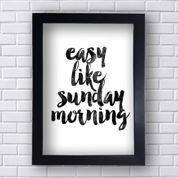 Quadro Easy Like Sunday