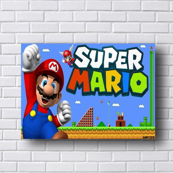 Quadro Decorativo Super Mario Bros