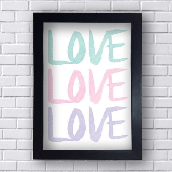 Quadro Decorativo Love Love Love
