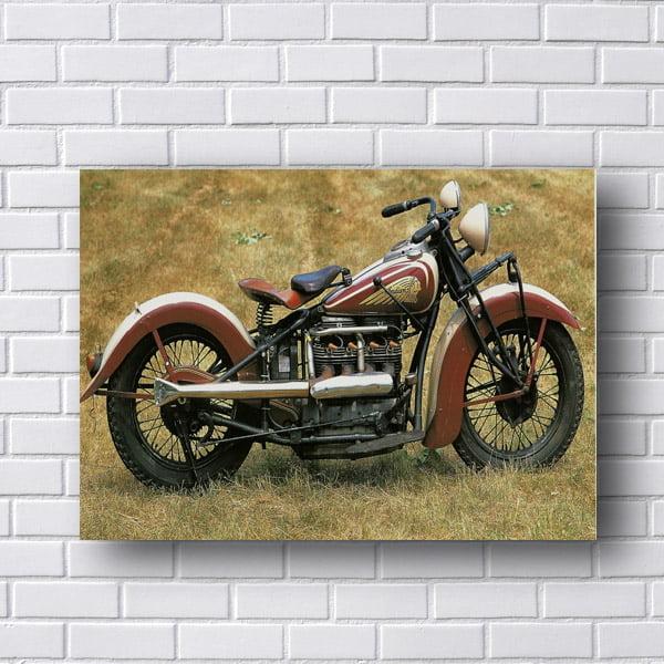 Placa Decorativa Harley Davidson Retro