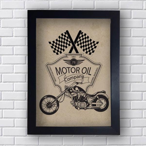 Quadro Decorativo Motor Oil