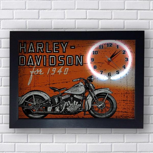 Quadro Harley Davidson Relogio