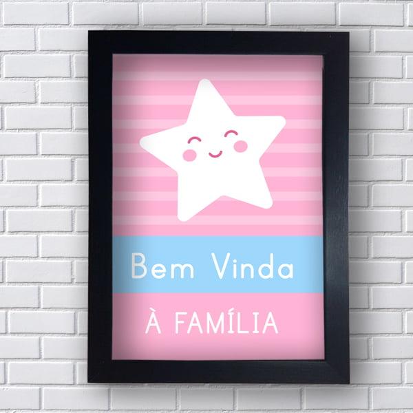 Placa Quadro Decorativo Bem-Vinda à Família