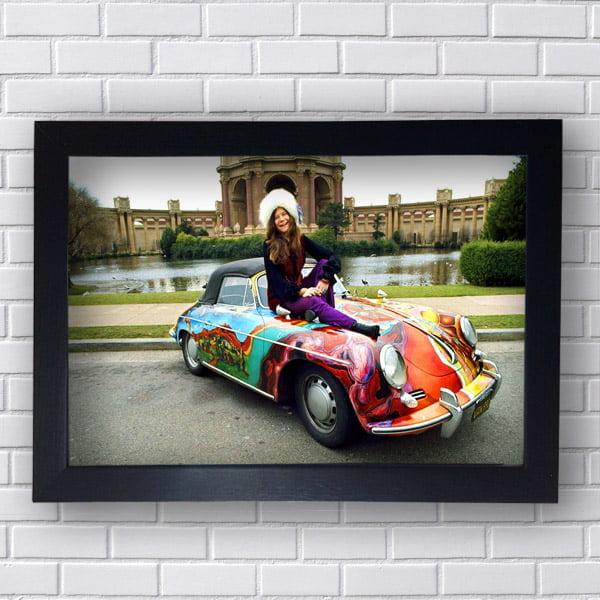 Quadro Janis Joplin e seu Porsche