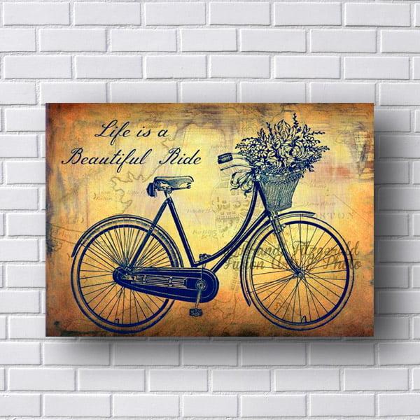 Quadro Decorativo Bicicleta Retro