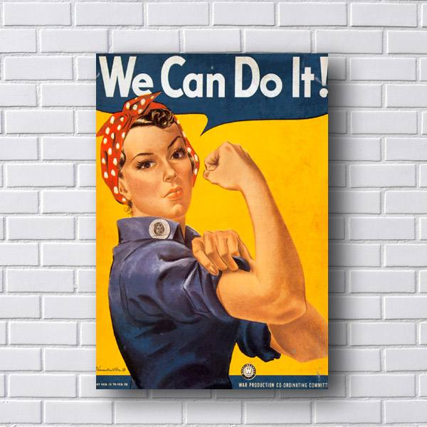 Quadro We Can do It Retro