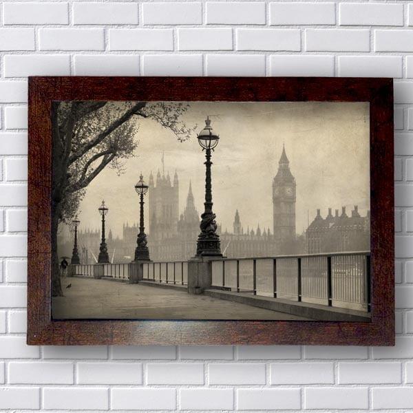 Quadro Rio Tamisa Londres Vintage
