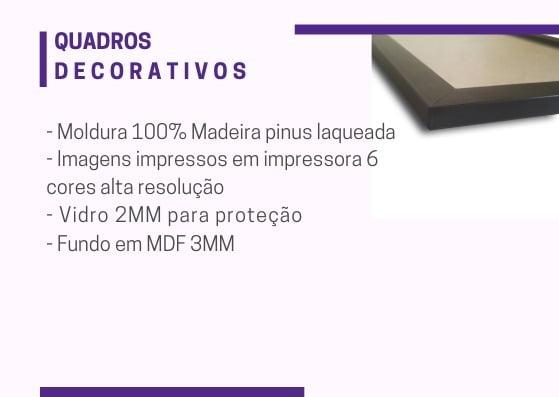 Kit Quadros Decorativos Bolsa Batom Sapato Preto