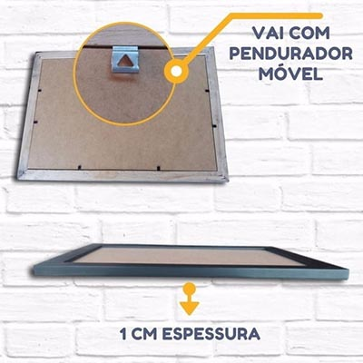 Kit 10 Molduras 20x25cm Com Fundo