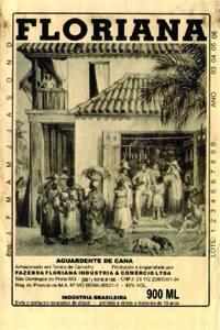 Placas Decorativas Propagandas Antigas Aguardente Floriana Cachaça PDV441