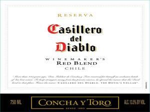 Placas Decorativas Casillero del Diablo Vinho Retro Vintage PDV393