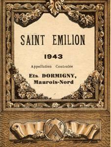 Placas Decorativas Vinho Saint Emilion 1942 Retro Vintage PDV402