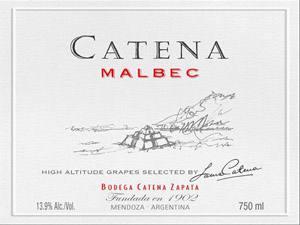 Placa Decorativa Catena Malbec Mendonza Vinho PDV398
