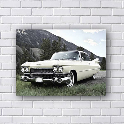 Placa Decorativa Carro Vintage