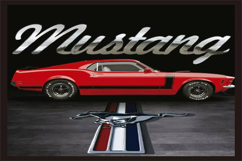 Placa Decorativa Vintage Carros Mustang PDV212