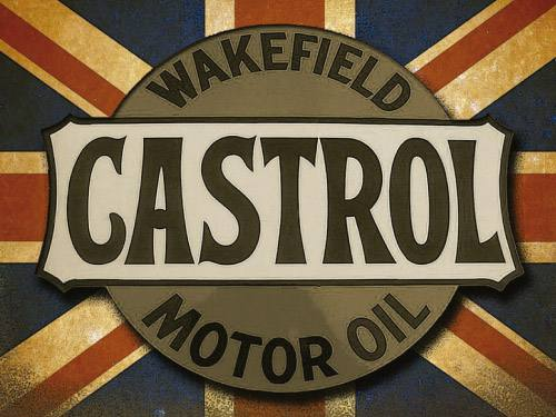 Placa Decorativa Vintage Carros Castrol Motor Oil PDV162