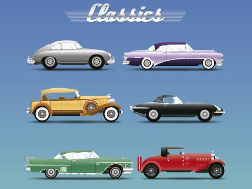 Placa Decorativa Vintage Carros Classics PDV194