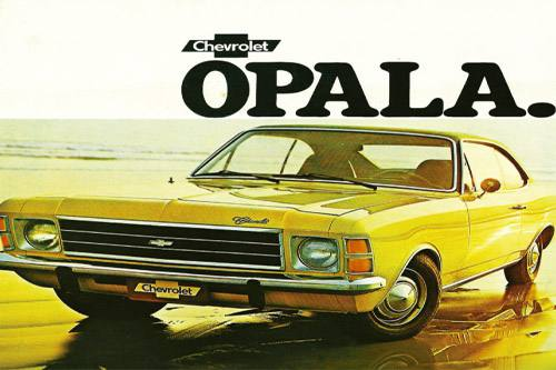 Placa Decorativa Vintage Carros Chevrolet Opala PDV211