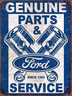 Placa Decorativa Vintage Retro Ford Genuine Parts Service PDV091
