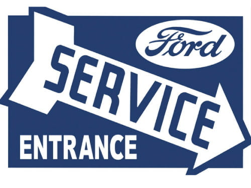 Placa Decorativa Vintage Retro Ford Service PDV092