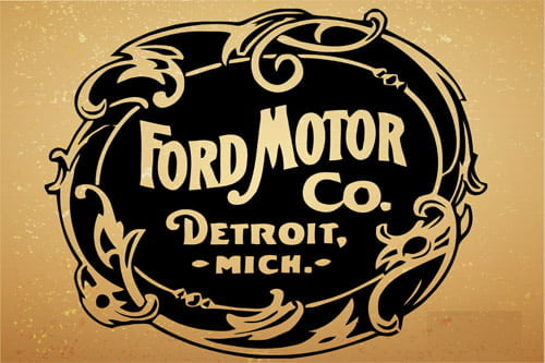 Placa Decorativa Vintage Retro Ford Motor CO PDV095
