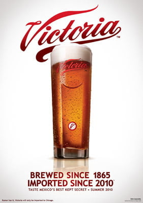 Placa Decorativa Victoria Beer PDV250