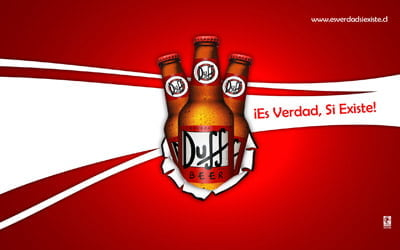Placa Decorativa Duff Beer Si es verdad PDV271