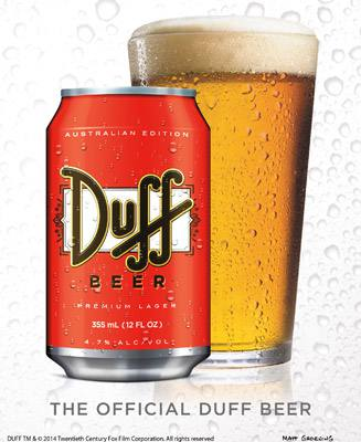 Placa Decorativa Duff Beer Australian Version PDV276