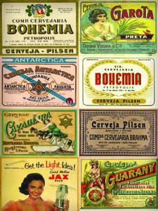 Placas Decorativas Cerveja Rotulos Nacionais Retro PDV330