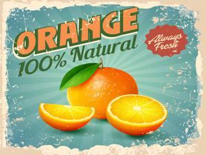Placas Decorativas Laranja Orange para Cozinha PDV508