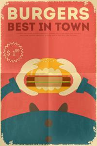 Placa Decorativa Burgers para Cozinha PDV507