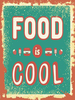 Placa Decorativa Vintage Retro Food Cool PDV087