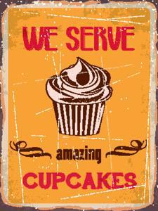 Placas Decorativas Cupcakes Amazing para cozinha PDV530