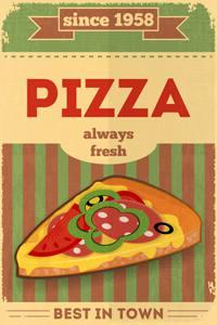 Placa Decorativa Pizza para Cozinha PDV505