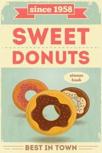 Placas Decorativas para Cozinha Donuts PDV503